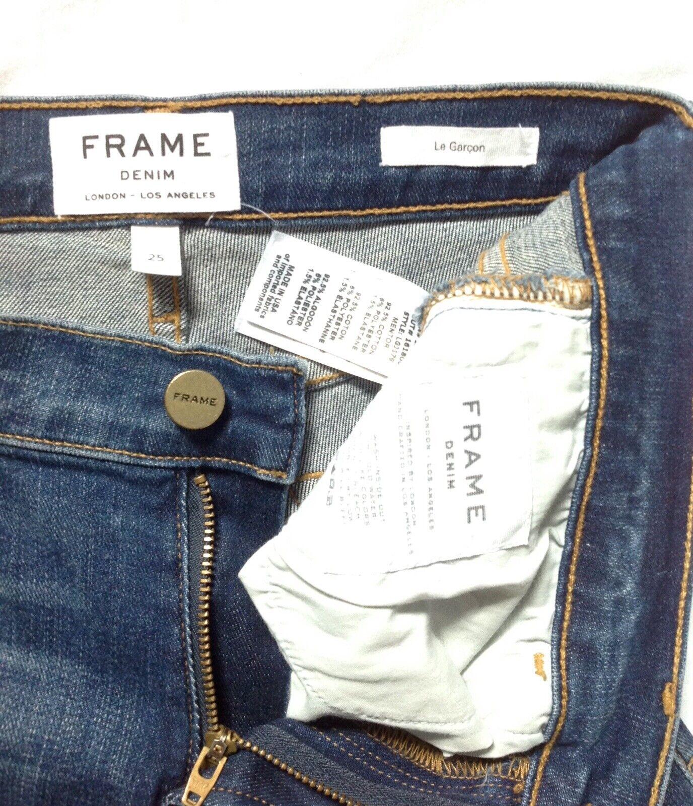 FRAME  Le Garçon Skinny Jeans, Size 25