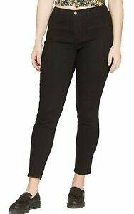 Wild-Fable-Womens-High-Rise-Skinny-Jeans-Black-Wash-Bladen-Solid-Size-4-8-10-New