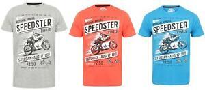 Mens-Sth-Shore-Speedster-Motorbike-Print-Short-Sleeve-Crew-NeckT-shirt