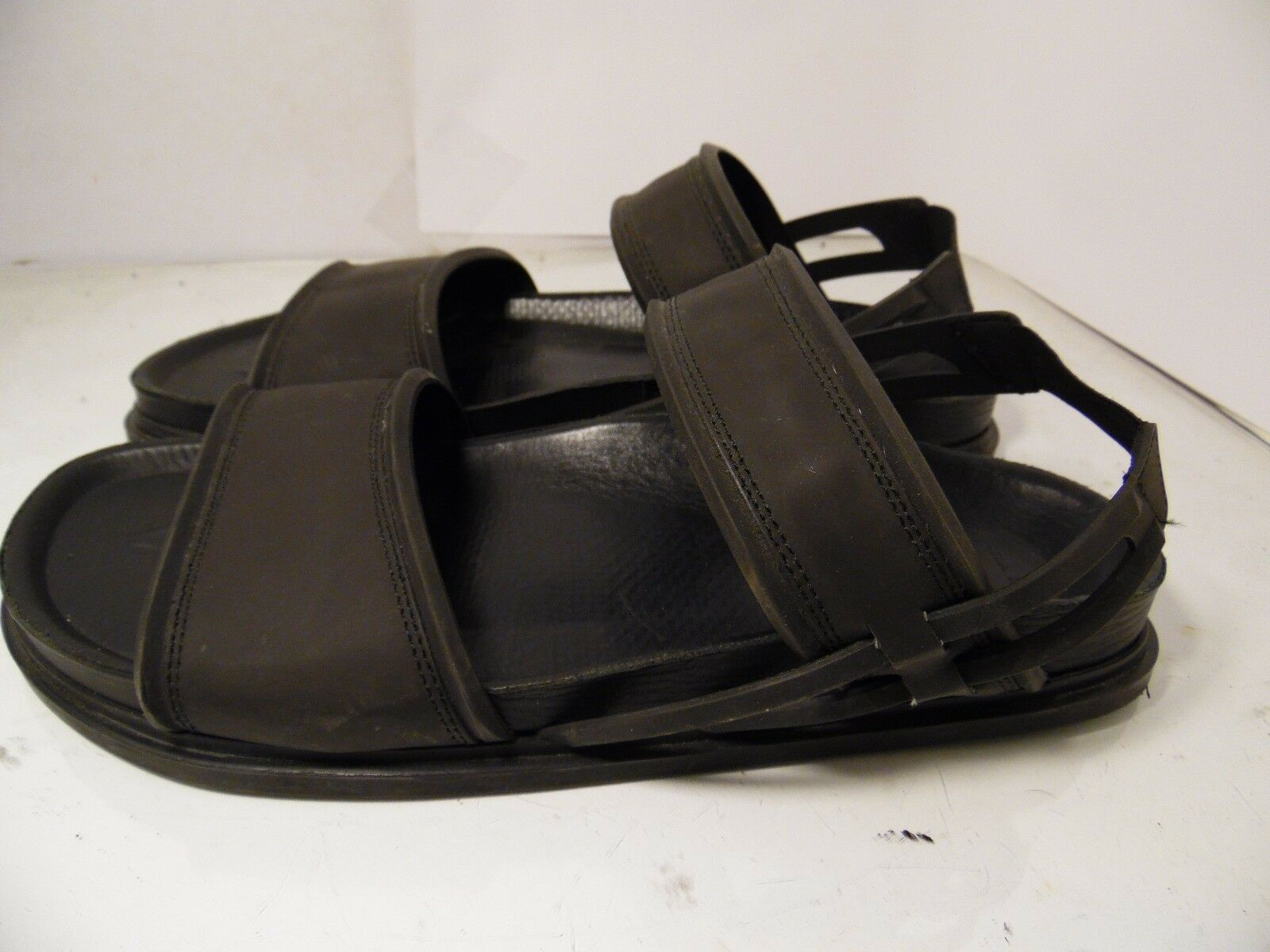 3d186a386878 ... Zara Man Black Rubber Sandals Fisherman Fisherman Fisherman Sling Back Mens  Size 45 Made in Spain ...