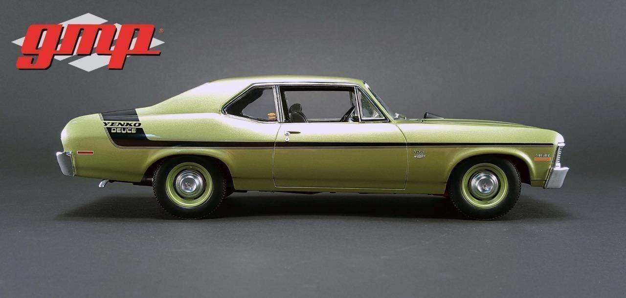 1 18 1970 Chevrolet Nova Yenko Deuce Citrus vert Limited Edition to 600pcs
