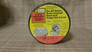 Sears-Du-All-8mm-Auto-Rewind-Reel-and-Snap-tite-Cover-Sealed-Original-NEW-NICE