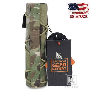 KRYDEX 7inch 18cm Silencer Cover Muffler Protector Suppressor Wrap Airsoft Black