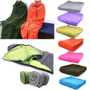 Sac-de-Couchage-en-Polaire-Blanket-Portable-Accessorie-Pr-Camping