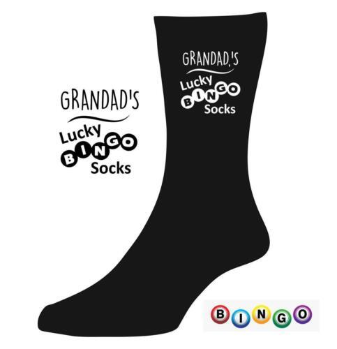 Personnalisé Lucky Bingo Chaussettes Grand-Mère Nana Grand-père Nouveauté Cadeau de Noël