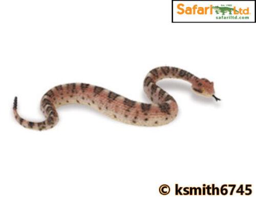 NUOVO Safari Sidewinder solido in plastica giocattolo Wild Zoo Animale Serpente Rettile