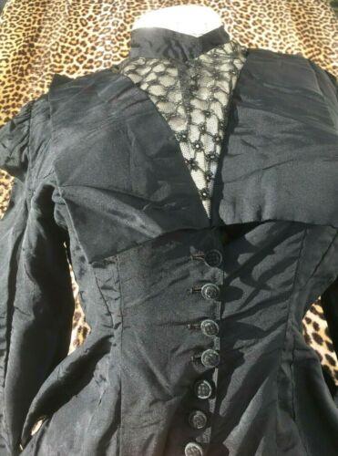 FRENCH VICTORIAN 1800s LADY REDINGOTE JACKET TOP~B