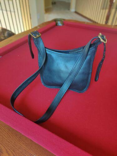 Coach Vintage Black Saddle Bag