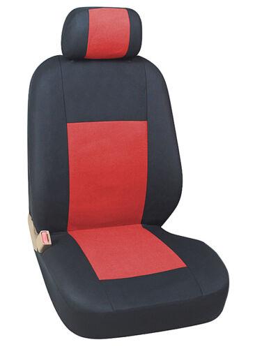 2x coprisedili anteriore rivestimenti 2+1 NUOVO ROSSO-NERO PER TOYOTA SEAT