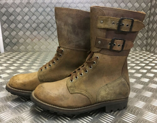 Leather 40 Foreign Genuine Legion Size French Suede New stivali Brown Fb303 Army qpHZfHw