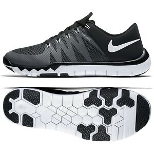 brand new 48dbe e32db Details about Nike Free Trainer 5.0 V6 719922-010 Black/Dark Grey/White  Men's Training Shoes