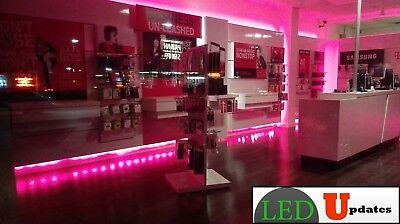 LEDUPDATES MOBILE STORE FRONT Magenta Hot pink LED LIGHT 20FT W// UL Power supply