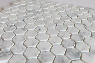 Bianco Carrara Marble 1 Inch Hexagon