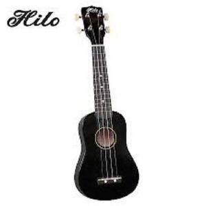 NEW Hilo SOPRANO 2500BK BLACK FINISH Ukuleles MUSIC Ukulele INSTRUMENT WITH BAG