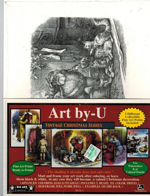 Art by-U Vintage Christmas Series  5 Prints - VCS-1 - Retail $9.99