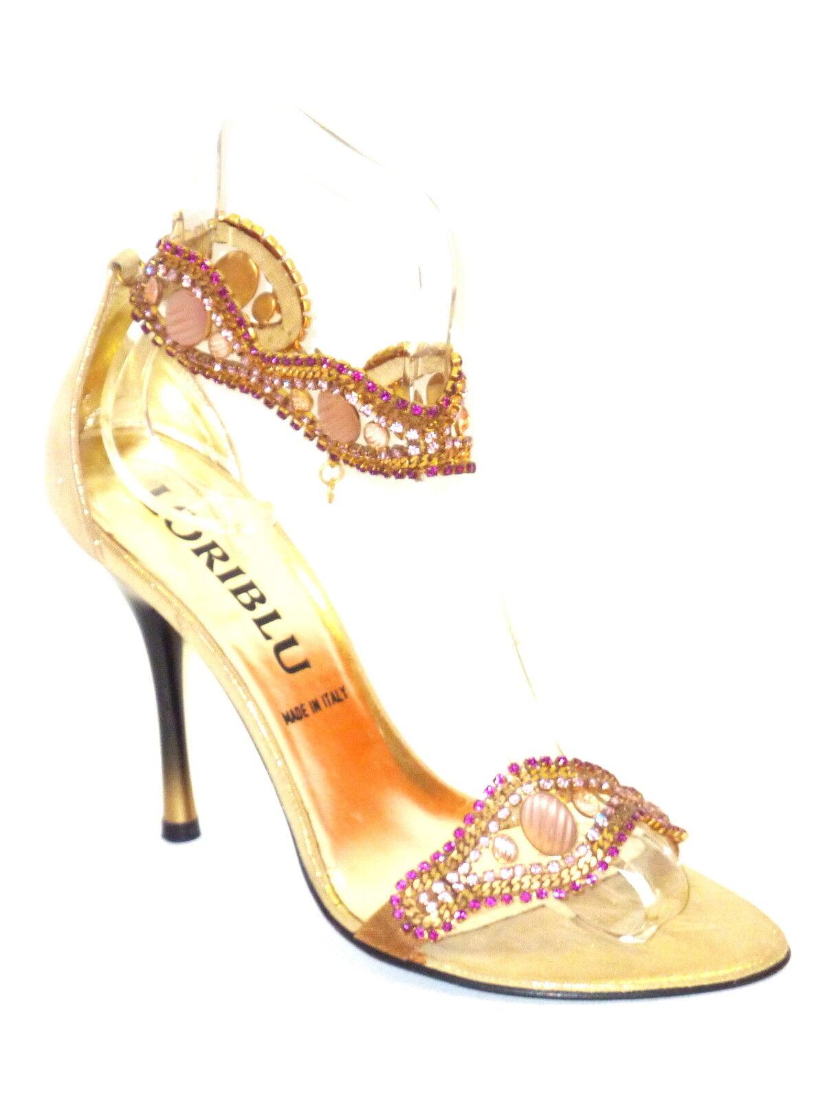 974  LORIblue SANDALI GIOIELLO women gold-SWAROVSKI  40