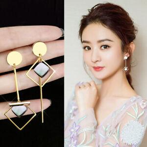 Women-Long-Geometry-Dangle-Drop-Earrings-Ear-Studs-Trendy-Wedding-Jewelry-G-MW