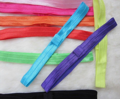 10PCS Baby Girl toddlers hairband Hair Bows Clips with elastic headbands HoRKUS