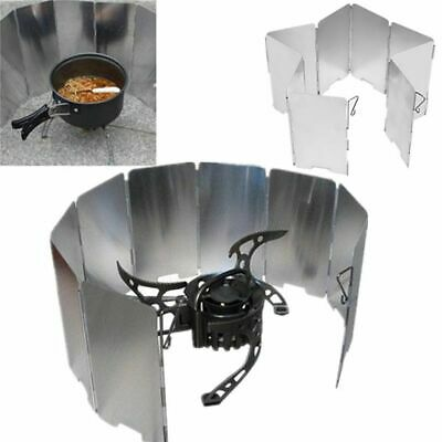 portable 9 plates stove wind shield  folding outdoor picnic BBQ gas stove campin