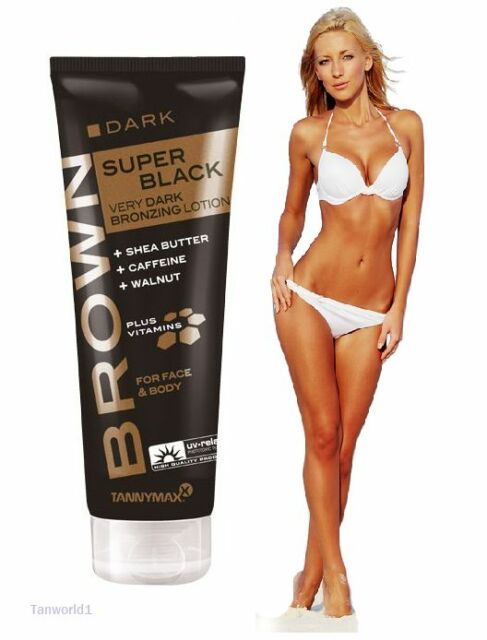 NewTannyMaxx Super Black Very Dark Bronzing Sunbed Tanning Face and Body Lotion