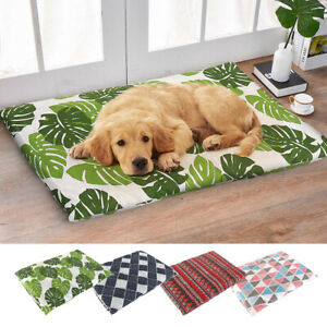 Dog-Cat-Sleeping-Bed-Mat-Warm-Cushion-Kennel-for-Crate-Cage-amp-Removable-Cover