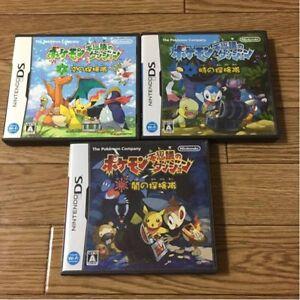Nintendo-DS-Pokemon-Fushigi-no-dungeon-3-Games-set-japan-import-games-F-S