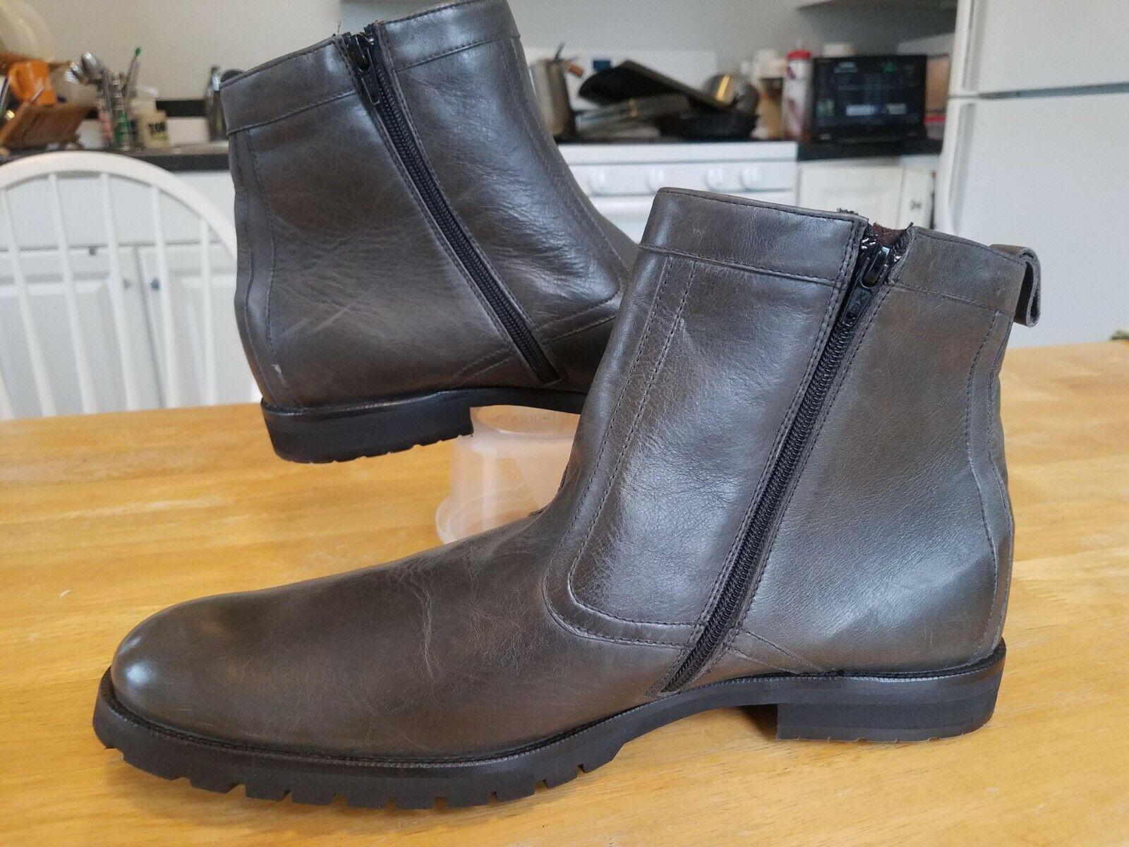 Pediwear De Inglaterra gris Oscuro gris Cremallera botas 11.5 nos similar a Allen Ed
