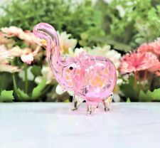 """4"""" PINK ELEPHANT COLLECTIBLE TOBACCO GLASS PIPE SMOKING HERB BOWL HAND PIPES"""