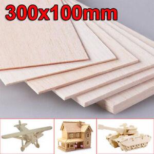 300x100mm-Wooden-Plate-Model-Balsa-Wood-Sheets-DIY-House-Aircraft-1mm-8mm-Thick