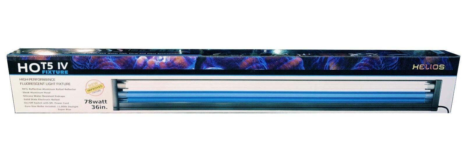 HO T5 Dual Aquarium Light Fixture 48  & 2x 54W T5 Bulb 6500K 10000K Actinic Pink