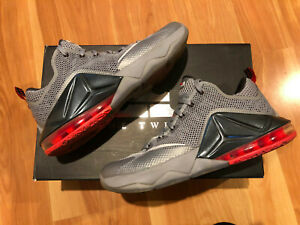 best website ee6b9 eda18 Details about Nike LeBron 12 Low Wolf Grey Size 9 Men (Pre-Owned)