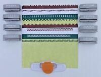 9 Piece Lot Fiskars Interchangeable Border Punch - Punch Base T & Cartridges