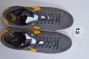 buy popular 2acc8 2ae0b Image is loading Nike-BLAZER-LOW-GT-Dark-Grey-University-Gold-