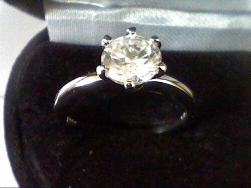 PLATINUM /& SS ROUND 1CTW LCS DIAMOND WEDDING ENGAGEMENT  BAND RING SZ 9