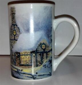 Thomas Kinkade Winter Cottage Ceramic Coffee Mug/Cup-Tea Cup -1991