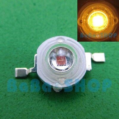 10pcs 3W 45mil Yellow 585nm-588nm High Power LED Lamp Beads Light Spotlight DIY