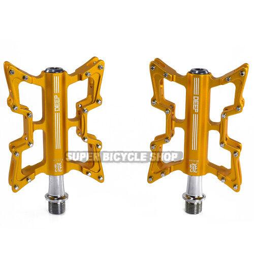 DEEP Lightweight  Alloy CNC Body Pedals , B1C , gold