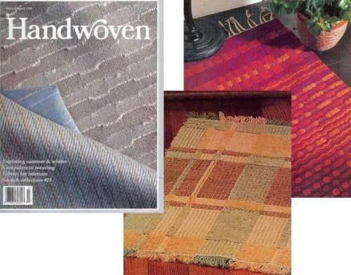 S/&W curtains towels Handwoven magazine march//april 1991: rugs bathmat