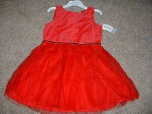 24b8fd47b089 Carter's Toddler Girl Red Holiday Christmas Dress Size 3T 3 Tulle ...