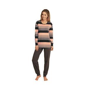 554ada1e82 Das Bild wird geladen Schiesser-Damen-Schlafanzug-Hausanzug -zweiteilig-Nachtwaesche-Pyjama