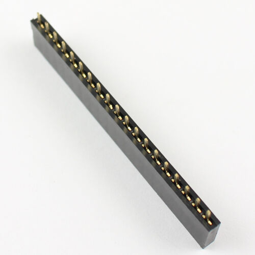 100Pcs 2.54mm Pitch 19 Pin Single Row Straight Female Pin Header Strip PH:8.5mm