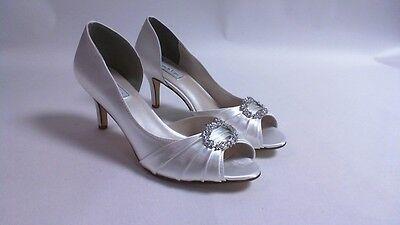 Retoques Boda Zapatos-Blanco-Ivanna-US 7 M UK 5 #2R269