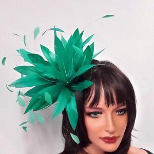 Neuf Jade Plume Pour Les Mariages, Courses Et Proms-afficher Le Titre D'origine