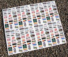 Ranura de coche Scalextric 1/32nd desviación Japón patrocinador adhesivos con el logotipo de calcomanías