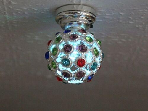Dolls House miniatura scala 1//12th da discoteca LED illuminazione palla colori cangianti