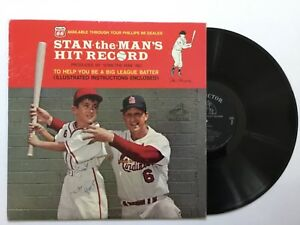 STAN-MUSIAL-Stan-the-Man-s-HIT-RECORD-vinyl-LP-NM-w-tri-fold-insert-auto-by-3