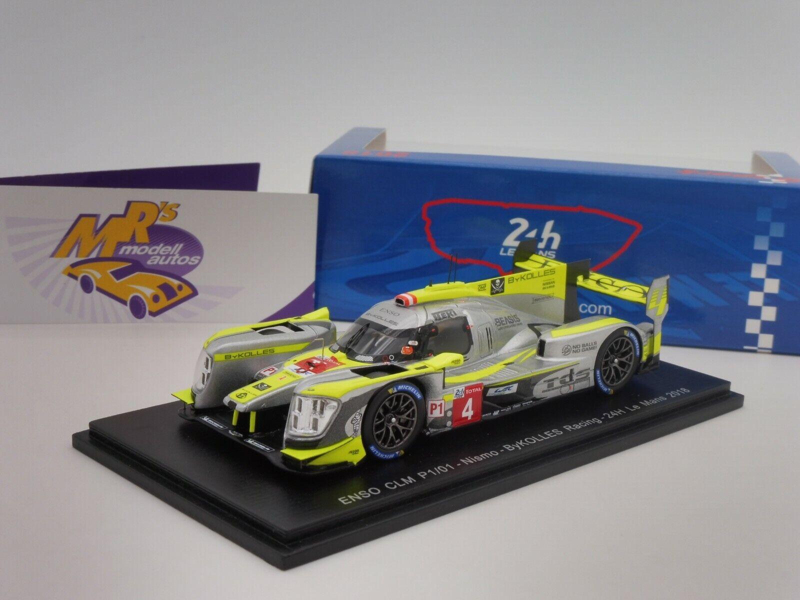 SPARK s7003    Enso CLM p1 01 Nismo 24 H. LE hommeS 2018  BYKOLLES Racing  1 43  très populaire