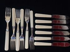 Silver Plate  12 ITEMS,VINTAGE CANTEEN  CUTLERY EPNS SET FISH KNIFES & FORKS,G/C