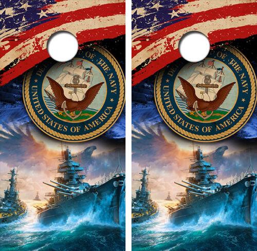 United States Navy Cornhole Board Wraps FREE LAMINATION #3298