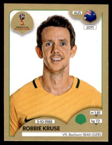 Nº 231 Robbie Kruse Australia Panini Copa del Mundo 2018 versión para Suiza de oro